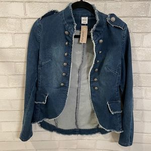 Women's Denim Jacket with Silver Buttons